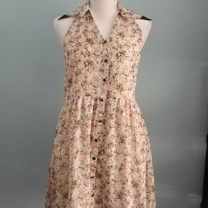 Mono B Halter Style Dress Floral Small